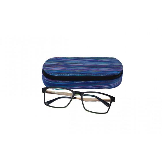 Piórnik z miejscem na okulary ze specjalne skóry