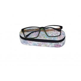 Skórzany piórnik z mejsce na okulary ze specjalnej skóry