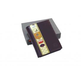 Brązowy skórzany portfel z RFID
