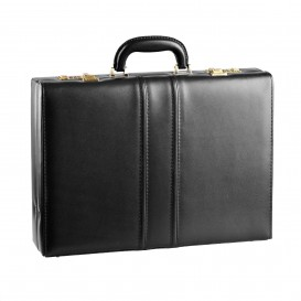 Black leather men's dressing case