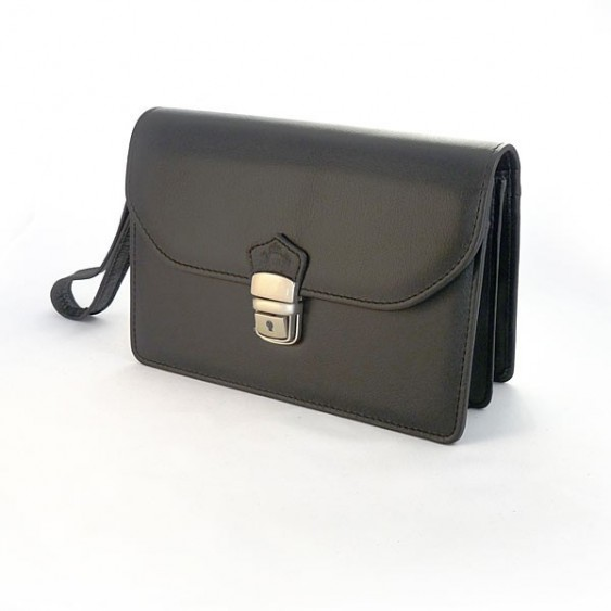 Black leather murse